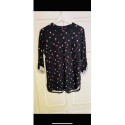 Long sleeve top with turn up sleeves sizes  8-18