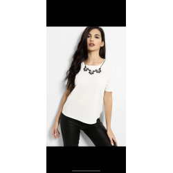 White top with chain around neck size 6-16