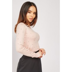 Studded sweater in 2 colours