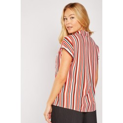 Striped quarter sleeve top sizes 6-20