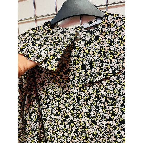 Peter Pan collar daisy print blouse long sleeve sizes 8-20