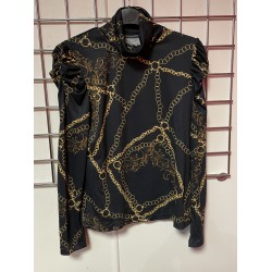 Chain print turtle neck top sizes 6-16