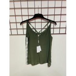Khaki sleeveless top sizes 6-16
