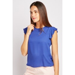 Royal blue top with slit back sizes 6-16