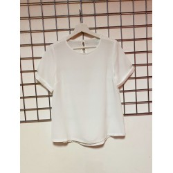 Plain white crape top sizes 8-20
