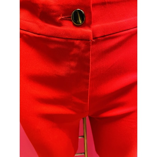 One button red trouser sizes 10-20