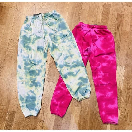 Tie-dye joggers in 2 colours size 4-14
