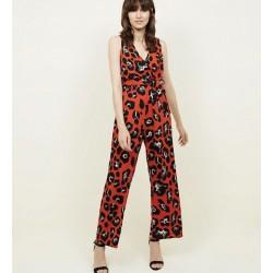 Sleeveless printed jumpsuit sizes 6-18