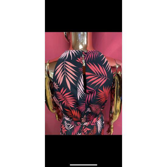 Leaf print maxi (sizes 8-18)