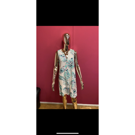 dress with leaf print in  3 colours  sizes by 8-18)