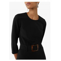 Black dress with belt sizes 6-16