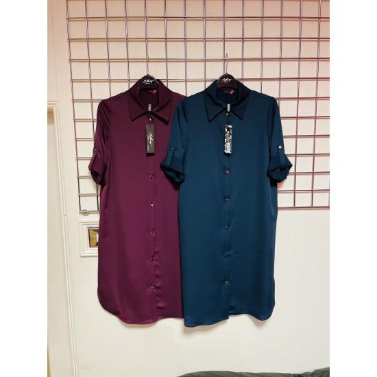 Shirt dress soft cotton buttoned down sizes 8- 20