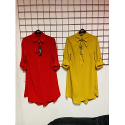 Shirt dress with tie up in 2 colours sizes 8-20