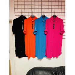 shirt dress buttoned down in 4 colours sizes 8-20