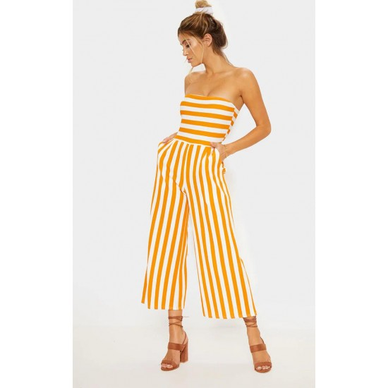 Striped jumpsuit sizes 4-14